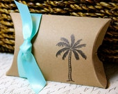 RESERVED for Becky - Palm Tree Pillow Boxes with Tags