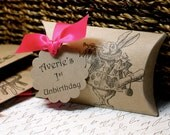 TAGS for Alice in Wonderland Pillow Boxes  -  Set of 10