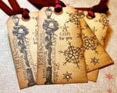 Vintage Inspired Holiday Tags - Lamp Post - Set of 5