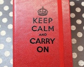 Embossed Sketchbook - Keep Calm and Carry On - Fo Leather