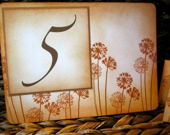 Vintage Inspired Dandelion Table Number Card