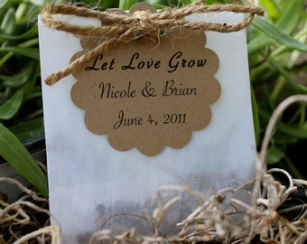 200 Wildflower Seed Favors - Personalized