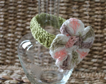 Crocheted Baby Headband Newborn 0-3 Months - 100% Cotton - Leaf