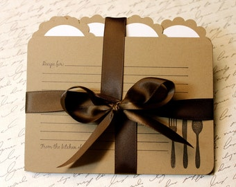 Recipe Cards & Dividers - Vintage Inspired - Utensils