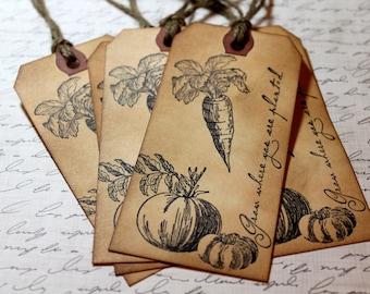 Vintage Inspired Gardening Tags - Set of 5