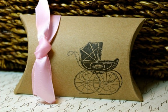 RESERVED for REBECKA -  Baby Carriage Pillow Boxes - RUSH