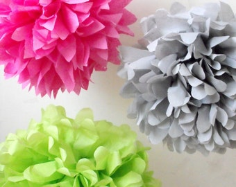 Nursery decor ... 3 Poms ... Pick Your Colors