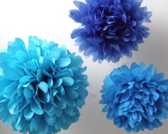 Birthday party decorations ... 3 Poms ... Pick Your Colors