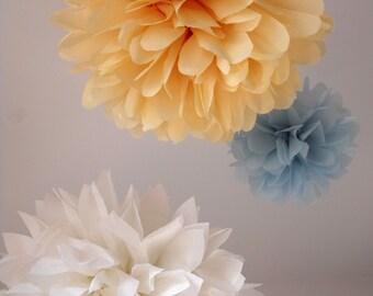 3 Poms ... Pick Your Colors