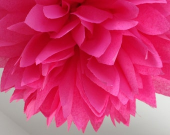 Pomtree pompoms ... Hot Pink ... 1 Pom