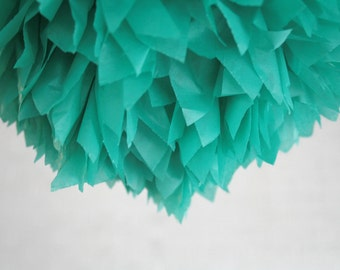 party decoration ... Tissue pom ... emerald green // weddings // birthday party // st.patricks // 2013 color trend
