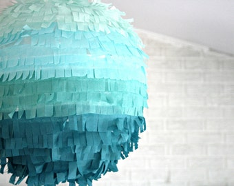 piñata DIY kit  - ombré lantern fringe edition ... birthday party decoration / weddings / gender reveal