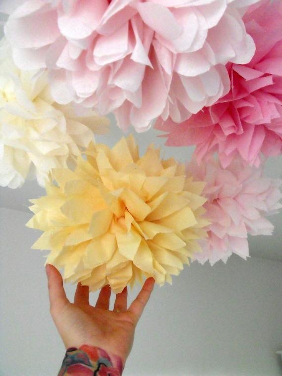 Nursery decor ...  5 Mini Poms ... Pick Your Colors - Budget DIY