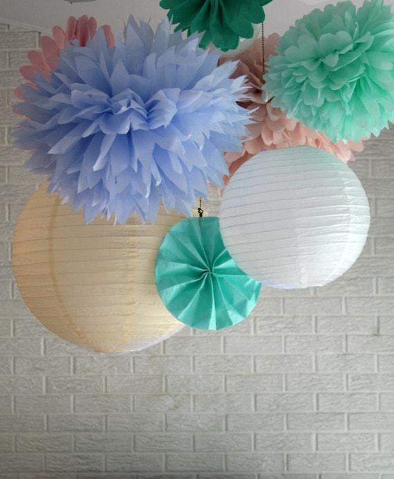 Wedding paper poms ... 30 Poms .... Pick Your Colors