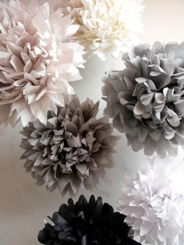 paper pompom kit 6 poms pick your colors. Black Bedroom Furniture Sets. Home Design Ideas