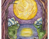 The Moon - 8.5 x 11 art print