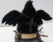 Nevermore - Ode To Poe - Mixed Media Raven Sculpture