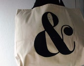 large ampersand tote