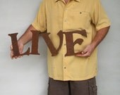 "LIVE metal wall art sign steel - 25"" wide - choose your color with rust patina - LIVE wall art - metal wall art - live love laugh wall art"