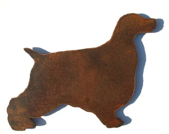 "Cocker Spaniel - metal wall art - 24"" wide - dog silhouette wall hanging - steel metal rust patina - cocker spaniel metal wall art rust art"