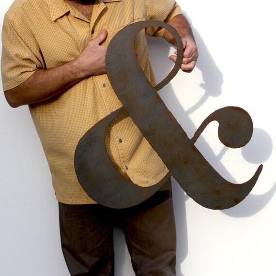 Ampersand Wall Art ampersand metal wall art custom sign 24 metal symbol