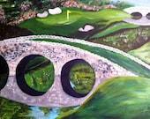 Original 12x12 Acrylic Golf Course Painting
