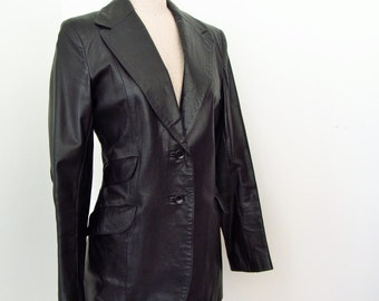Vintage 70s Beged Or Leather Jacket Blazer