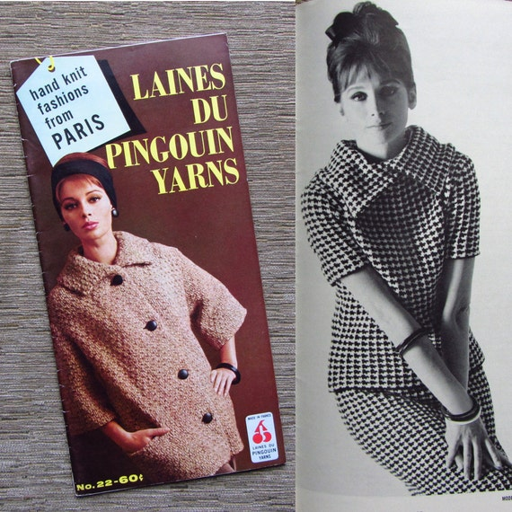 Vintage 1960s Knitting Booklet Laines Du Pingouin Yarns French Fashion