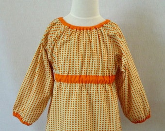Girl's peasant blouse
