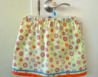 Girl's cotton skirt with rick-rack detail - Size 5T