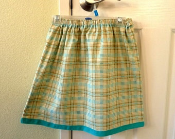 Girl's cotton skirt with twill tape detail - Size 6T