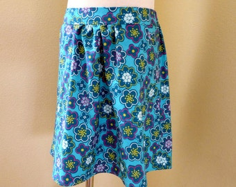 Girl's cotton skirt with pockets - Size 8T