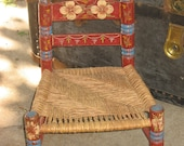 Price reduced: Vintage Pennsyvania Dutch Inspired Child's Thatched Chair