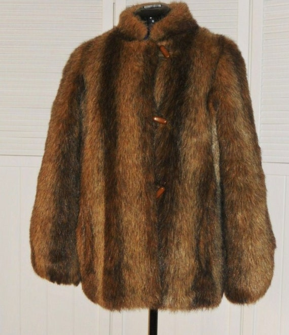 Fur Coat Faux Fur Cheyenne by Hillmoor, Vintage. RESERVED FOR ALEX