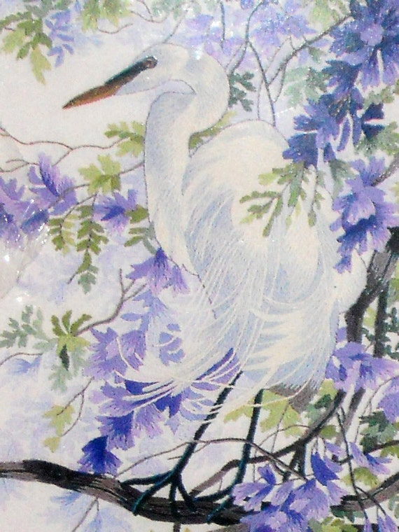 "Egret Needlework ""Enchanted April"" Crewel Yarn Kit 10"" x 24"" Matthew Hillier Heritage Collection Elsa Williams"
