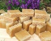 2 Goat's Milk Geranium Orange & Lemon honeycomb Soap Traditional Handmade Gift  UK seller