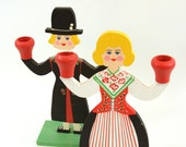 Vintage Swedish Candle Holder / Figurines