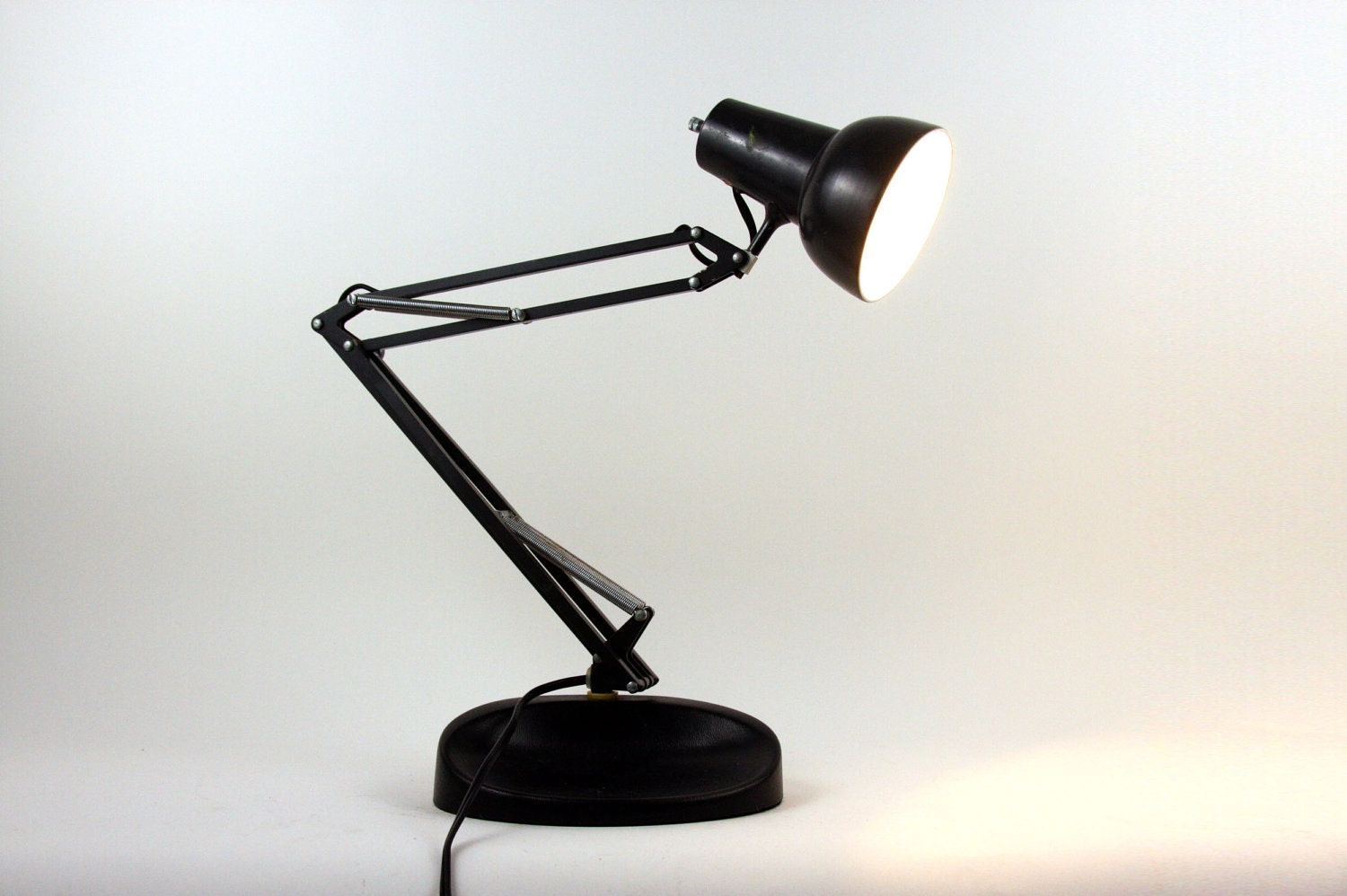 vintage norwegian desk lamp swing arm luxo lamp. Black Bedroom Furniture Sets. Home Design Ideas