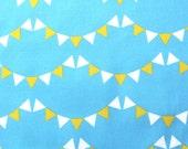 "Childrens Blue fabric - Kona Cotton- "" Little Bunting""-  1/2 yard"
