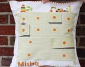 "DIY KIT children's pillow cover- Personalized Gift for kids- ""Little Drawer"""