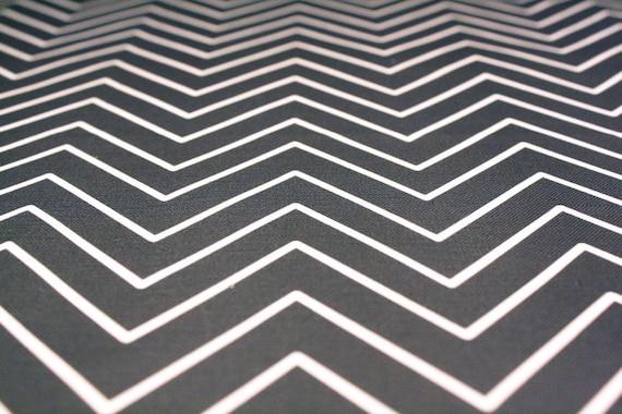 "Upholstery Fabric  - ""Delicate Charcoal Chevron""- Cotton/Linen ( fat quarter 27""x18"")"