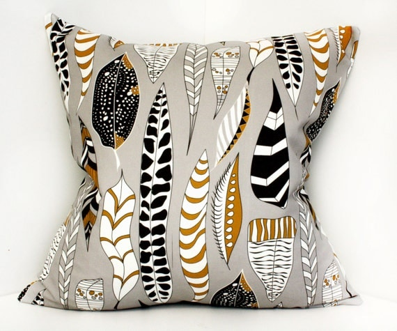 Decorative pillow cover, cushion cover, pillowcase, home gift - 18x18 Grey, Brown, Black- shipping times vary, please inquire