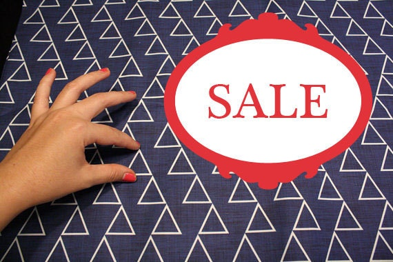 "100% Quilting Cotton - Original design - ""Dancing Triangles"" ( Full yard)"