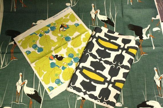 Fabric Scraps - Original Designs -Greens and Citrine