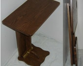 Hand Crafted Custom Made New Solid Oak Wood FOLDING Sofa Server TV / RV / Snack Tray / Laptop Table