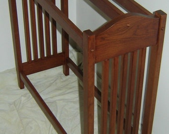 Hand Crafted NEW Solid Cherry Wood Mission Style Quilt Rack Stand / Blanket Stand