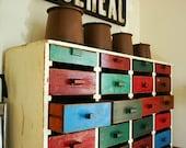 HOLD///primitive handmade 48 DRAWER huge storage cabinet