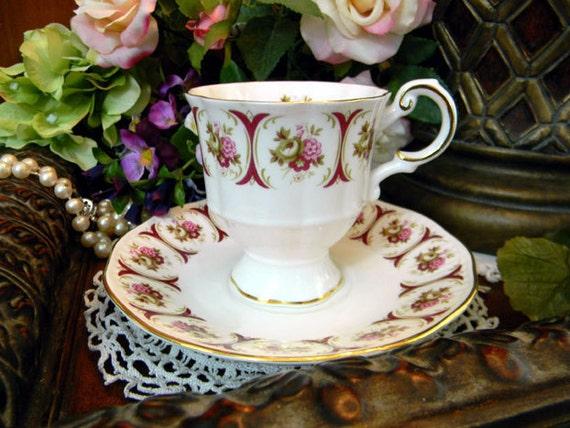 Rosina Demitasse Tea Cup And Saucer Teacup 1950s Bone China