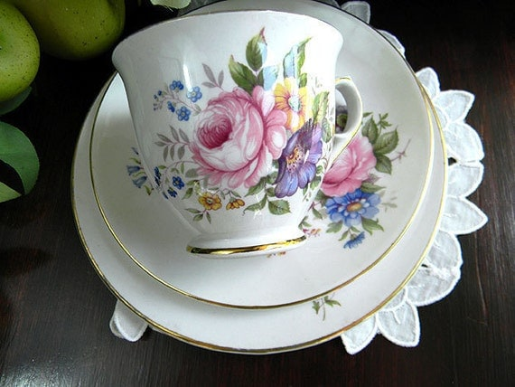 James Kent Foley Tea Cup Teacup and Saucer Trio Made in England 6255