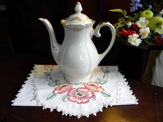 VEB Large Coffee Tea Pot Germany 3010